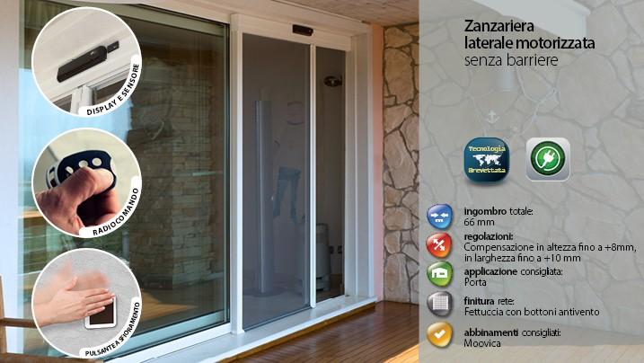 Zanzariere motorizzate fisse per porte finestre - Zanzariere scorrevoli per porte finestra ...